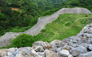 Snaking wall of Nakijin Castle