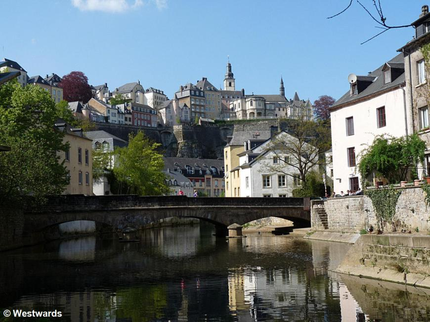 Luxembourg city from Grund