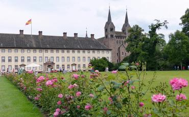 View over the lawn towards the Carolingean Westwork