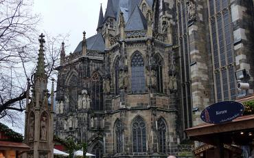 Gothic Aachen cathedral from the outside