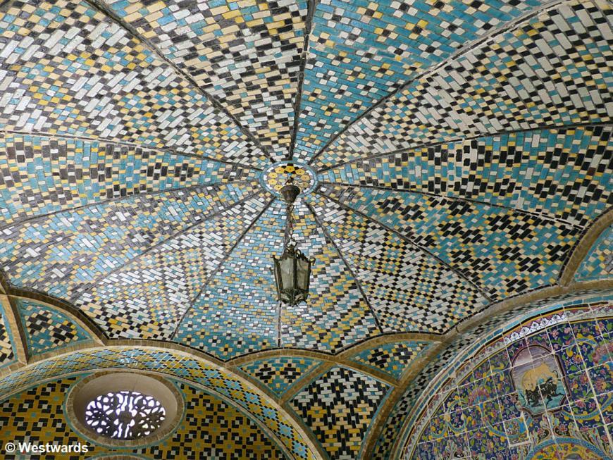 Golestan: tiled ceiling of Khalvat-e Karim Khan