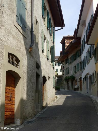 street in Riex in the Lavaux vineyards