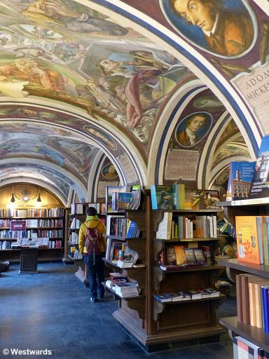Library with ceiling frescoes