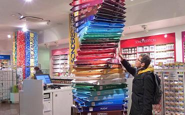 Giant chocolate bar tower