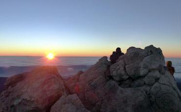 Sunrise on the peak of Mount Teide