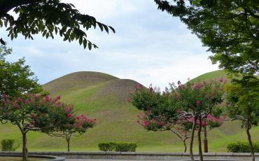 Bulbous tumulus tombs at the Gyeongju Historical areas