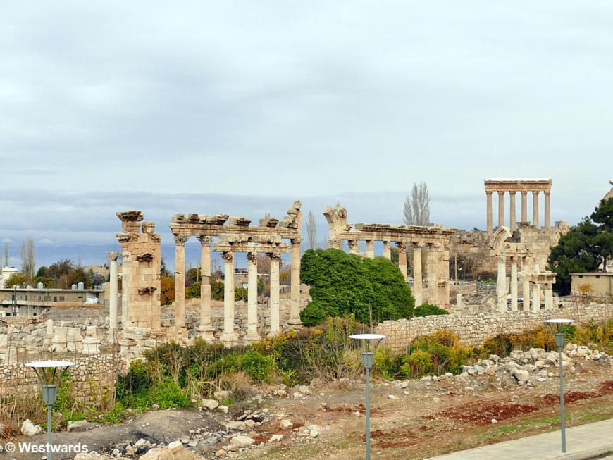 Ruins of the Roman bath at Baalbek