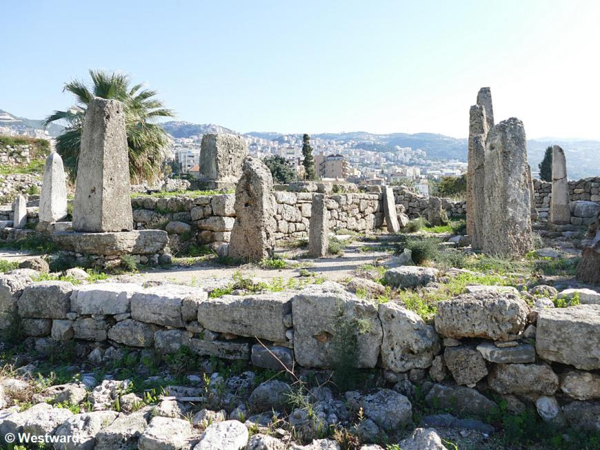 So-calles Obelisk tempel at the archeological site of Byblos