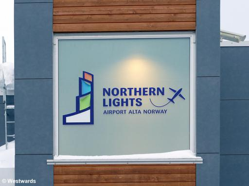 Airport sign in Alta
