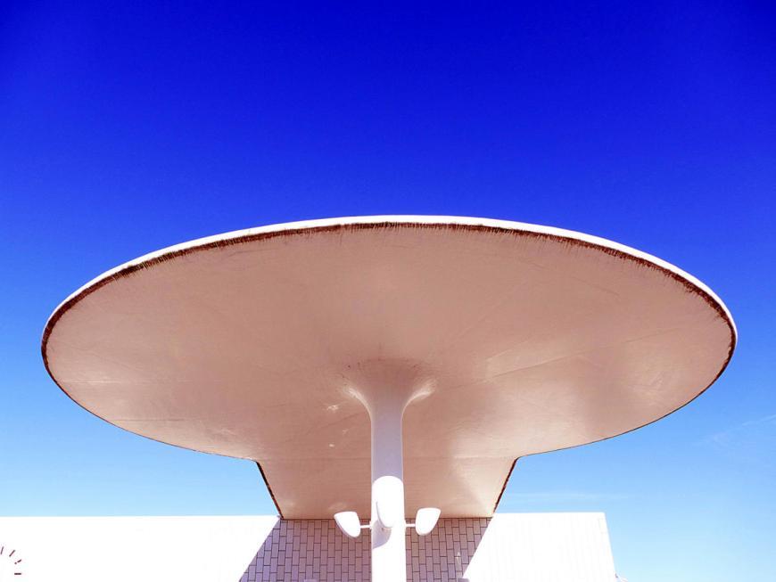 Petrol station by Arne Jacobsen