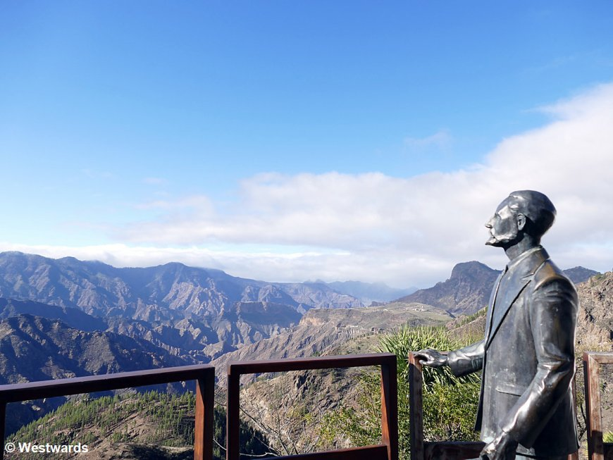 View from Artenara over the mountains of Gran Canaria