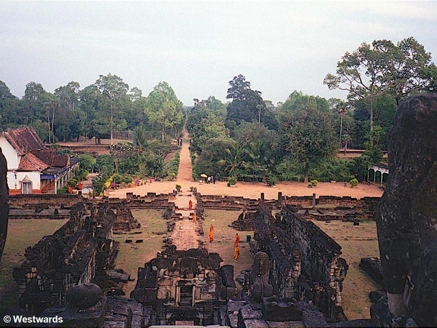 Monks in Angkor Wat, Cambodia, in 2001