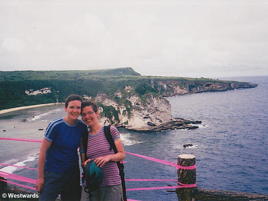 Natascha and Isa sightseeing on Saipan