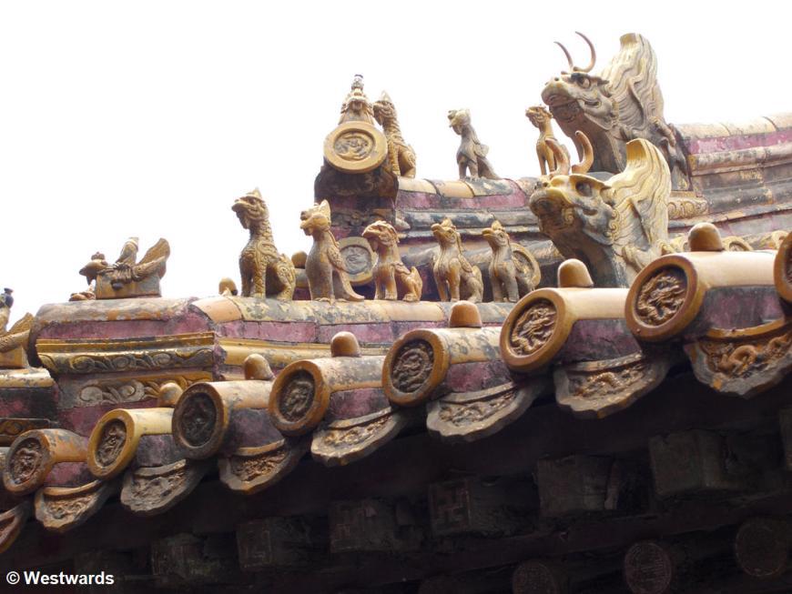 Roof ornaments in the Forbidden City Beijing