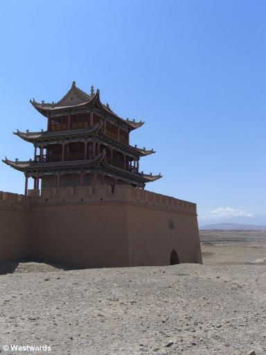 Entrance to the desert and the ancient silk: Jiayuguan Fortress