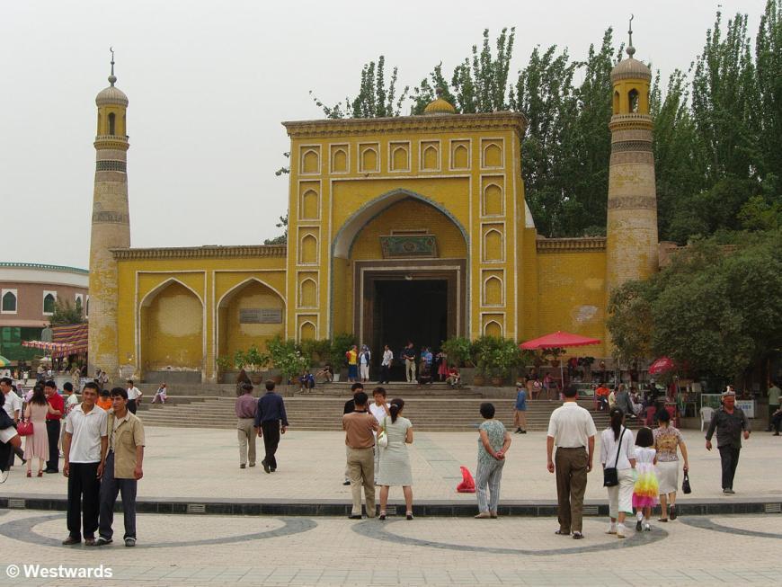Uighur Id-kah mosque in Kashgar