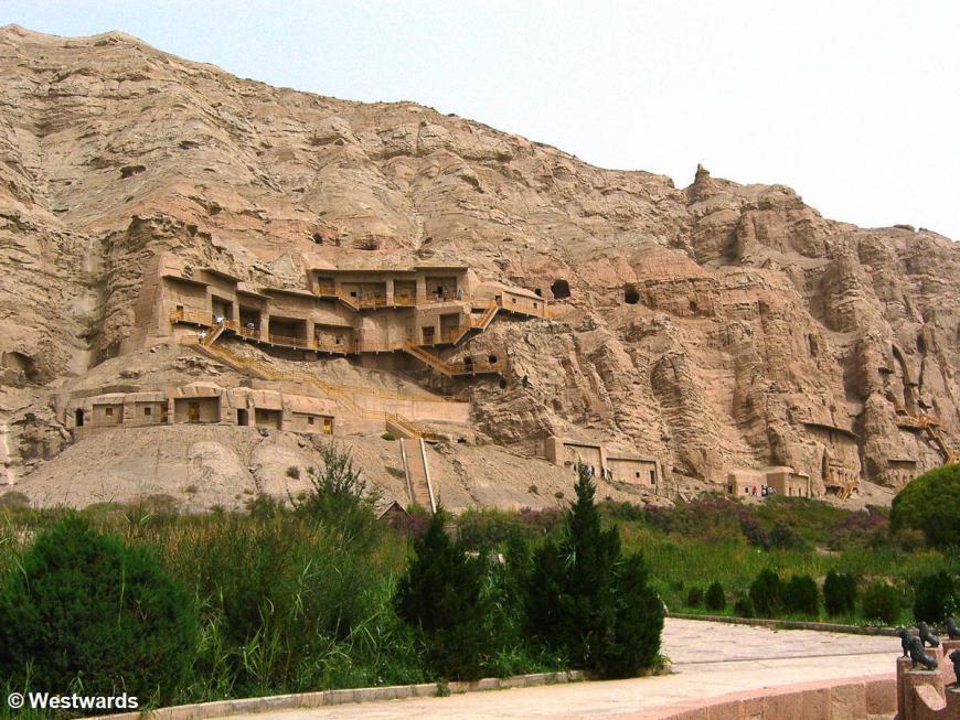 Kizil grottoes in the ancient silk road city Kucha