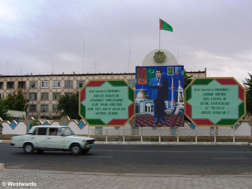 image of Turkmenbashi on a street