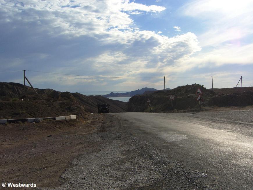 Transit through Turkmenistan between Ashgabad and Turkmenbashi
