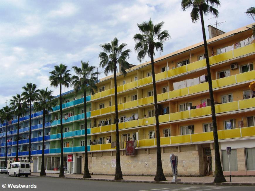Colourful apartment buildings in Batumi