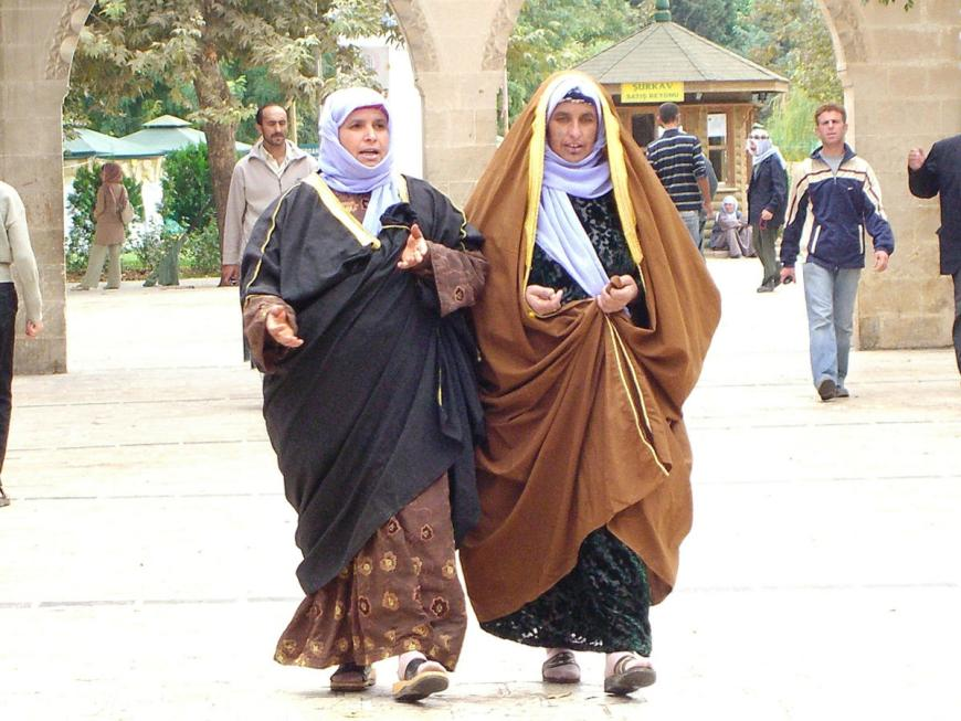 women in dark garments in Sanliurfa