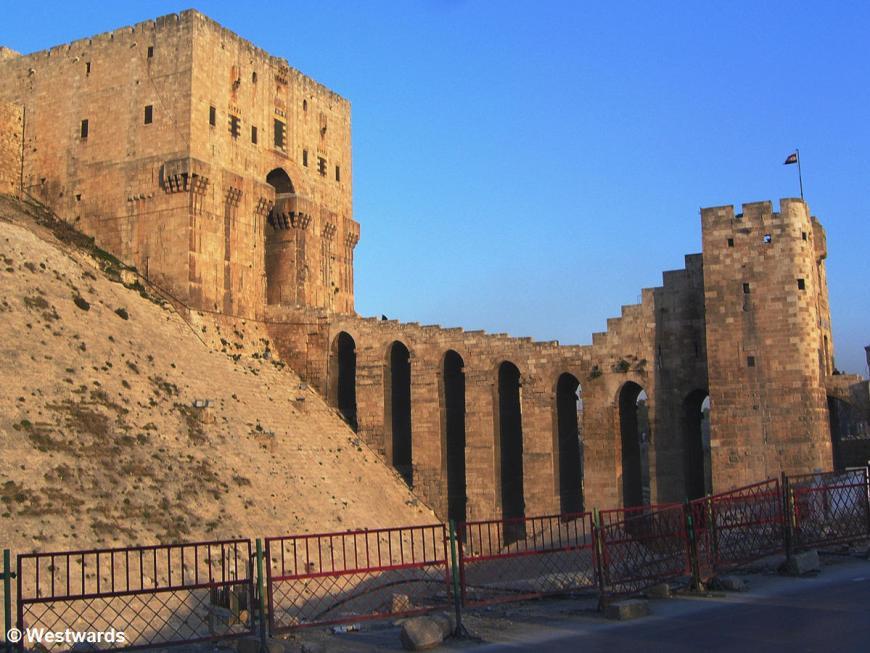 Citadel of Aleppo in evening light