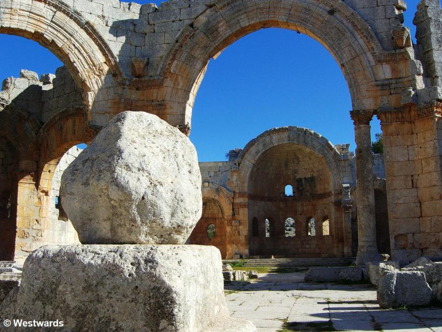 Stump of St Simeon's pillar