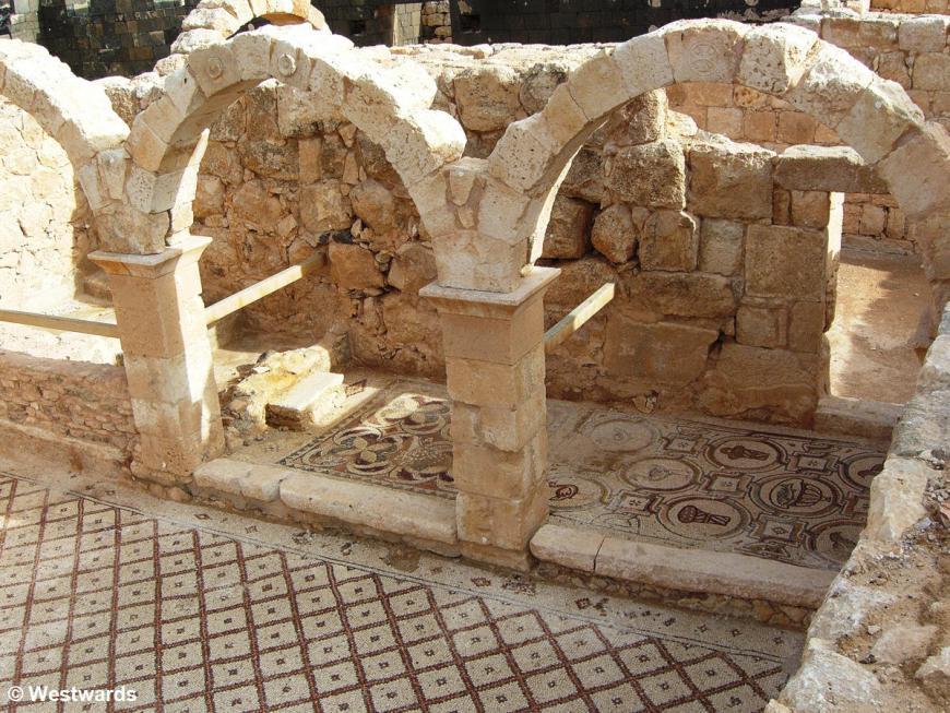 20070208 Qasr el-Hallabat Mosaik