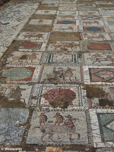20070425 Carthage Parc des Villas Romaines Opus Sectile Opus Tesserae gemischt