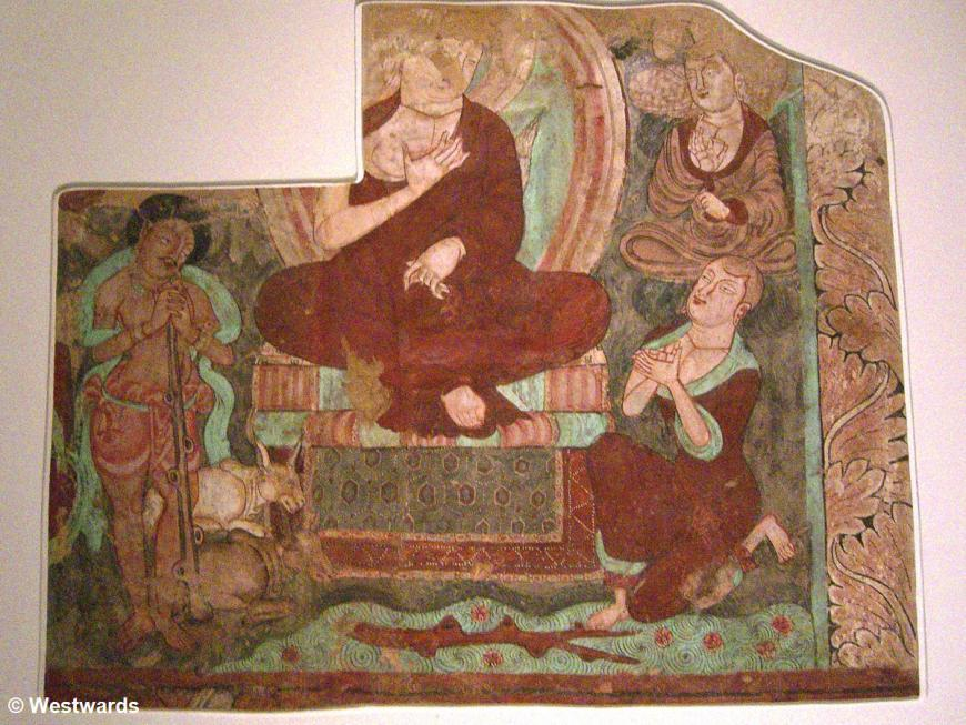 Fresco from the Kizil grottoes on the Chinese silk road