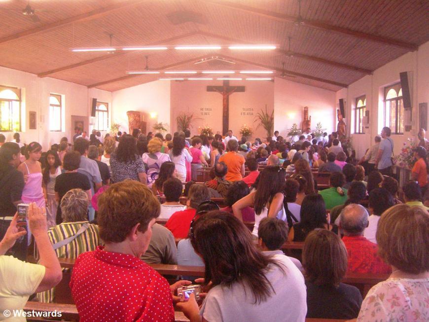 Easter mass in Hanga Roa