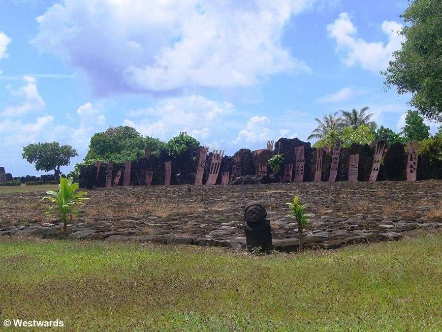Marae Taputapuatea, a Polynesian ritual place on Raiatea