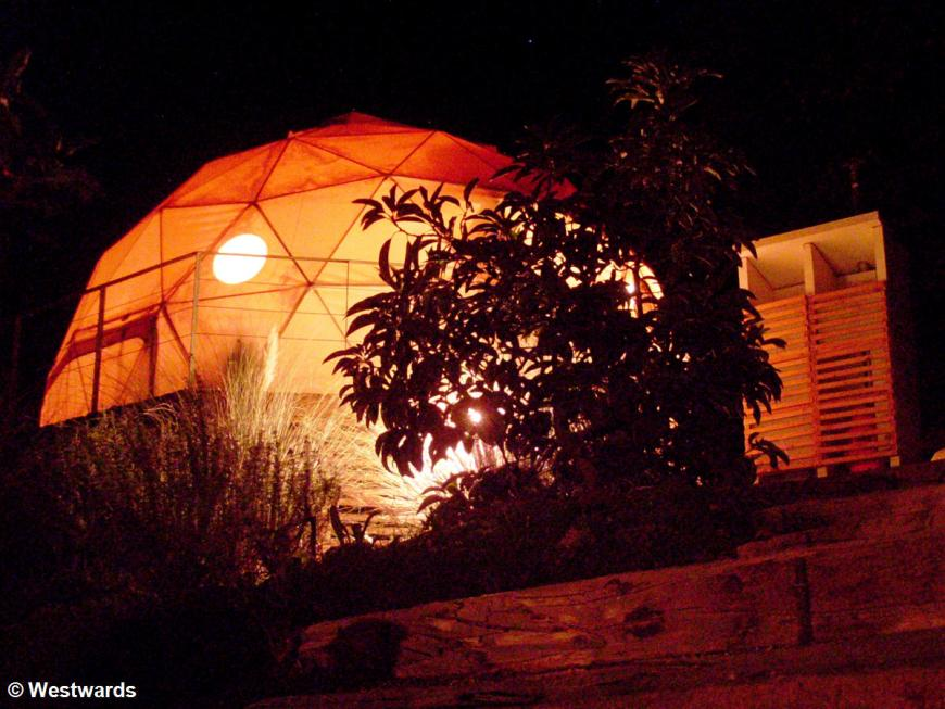 Astro Lodge dome tent in Elqui Valley