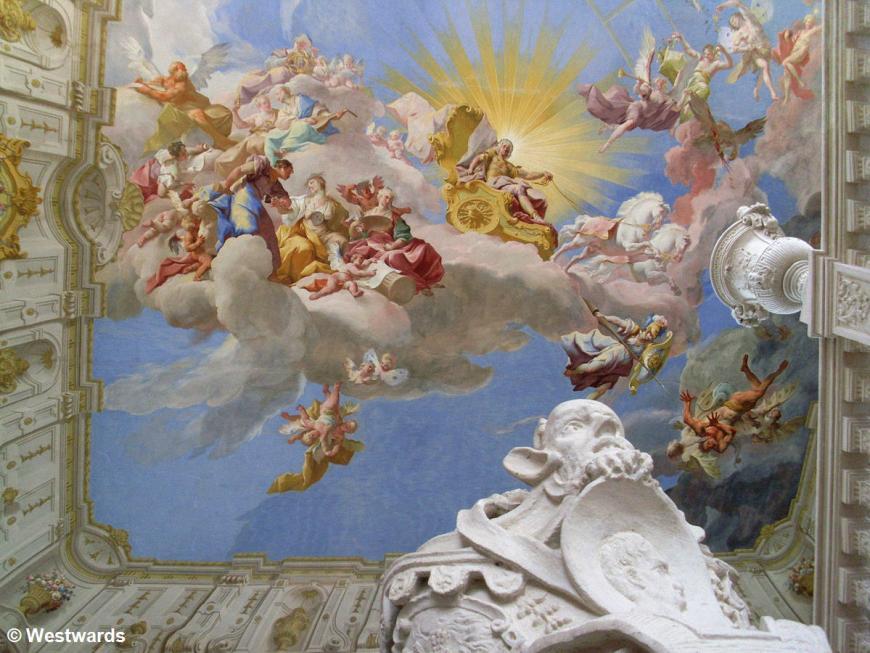 ceiling fresco and stukko in Stift Goettweig, Austria