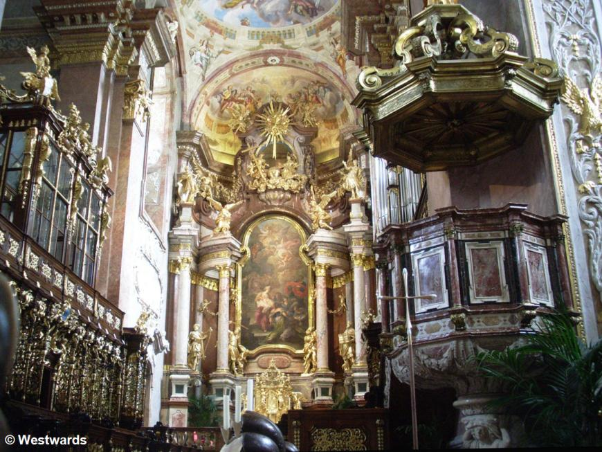 interior of the church of Klosterneuburg monastery, Austria