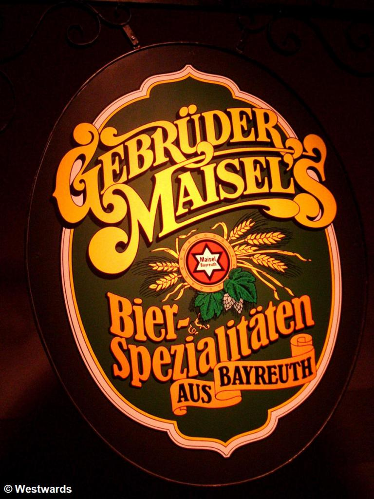 Beer sign in Bayreuth Maisels brewery museum