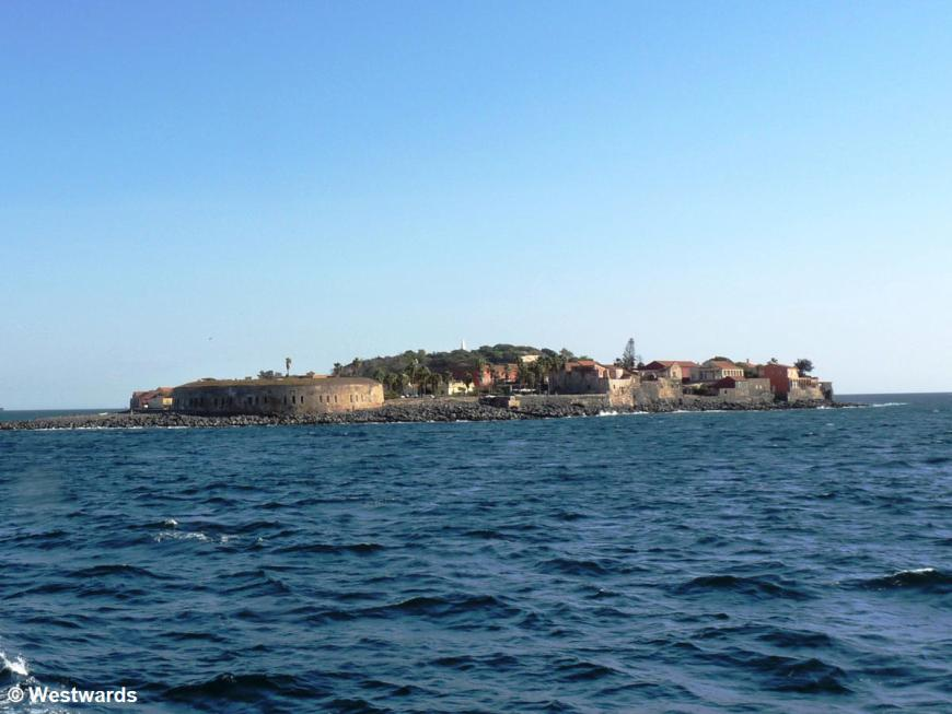 Ile de Goree on approach from the sea