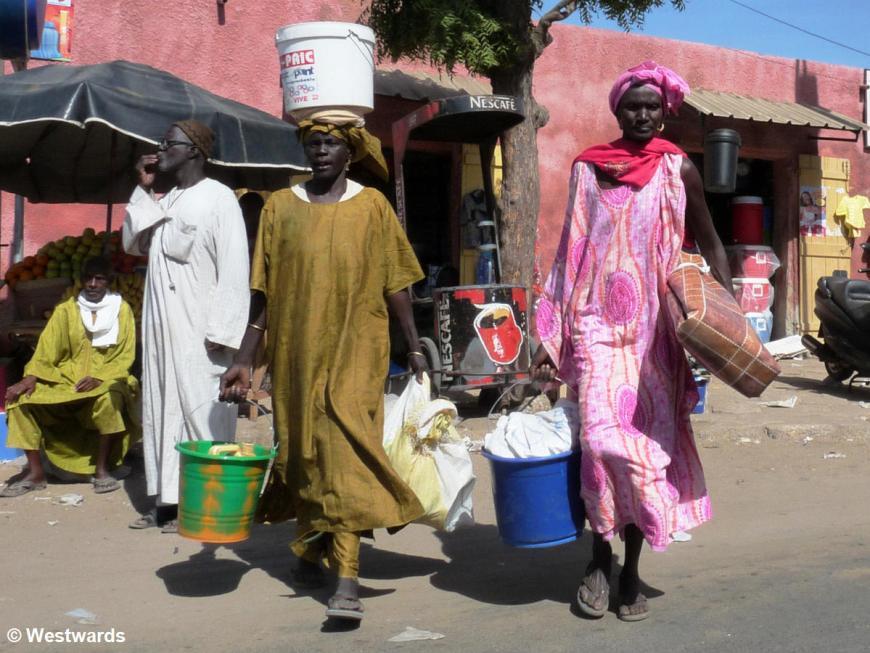 Street scene in St Louis in Northern Senegal