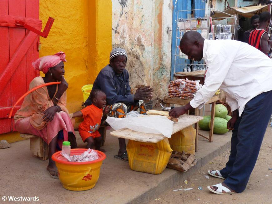 family at the market in Podor