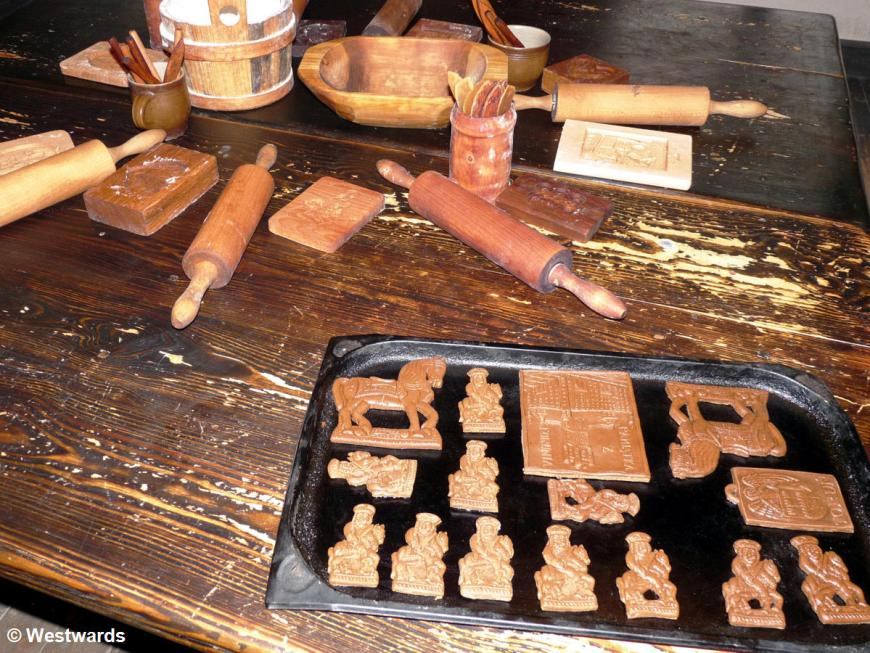 gingerbread and tools in the Torungingerbread museum