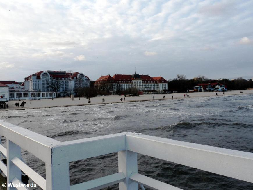 Baltic coast of Poland with Sopot Grand Hotel