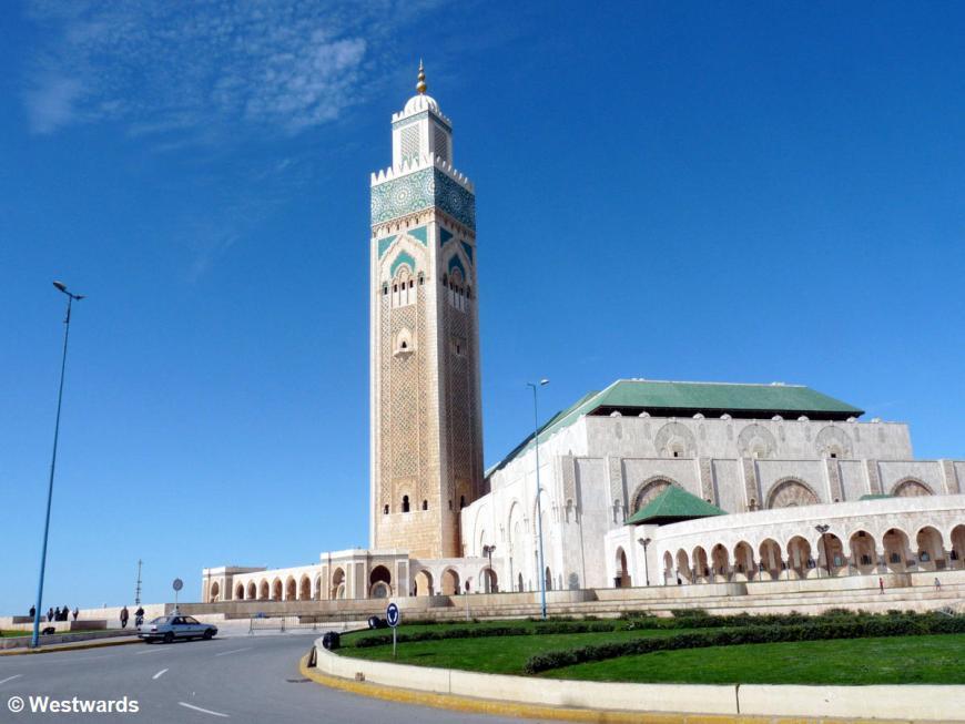 Modern Mosque of Hassan II in Casablanca, Morocco