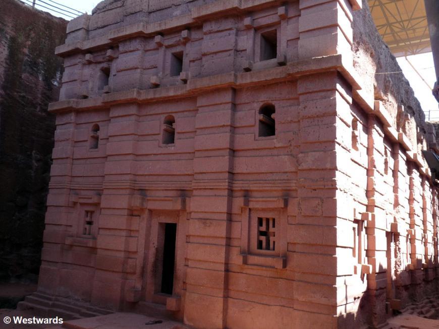 Rock-hewn church of Beta Amanuel in Lalibela