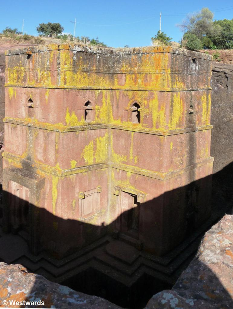 Rock-hewn church of Beta Giyorgis in Lalibela