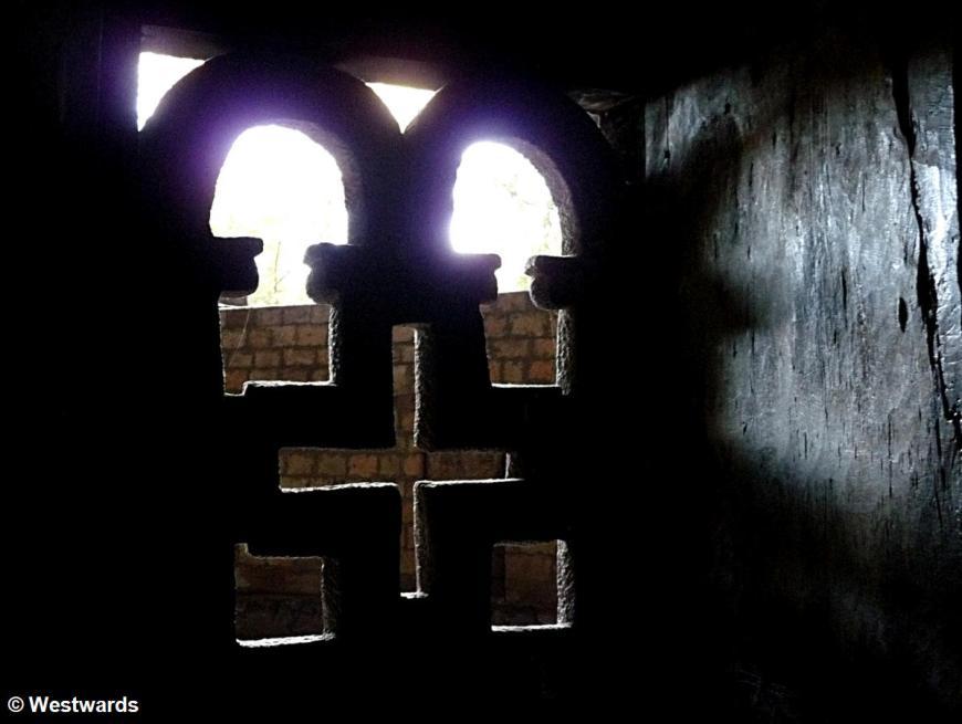 Rock window of Yemrehanna Kristos church