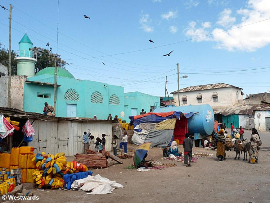 Market area in the walled town of Harar