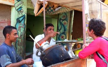 authentic travel experience at a foul stall in Esna