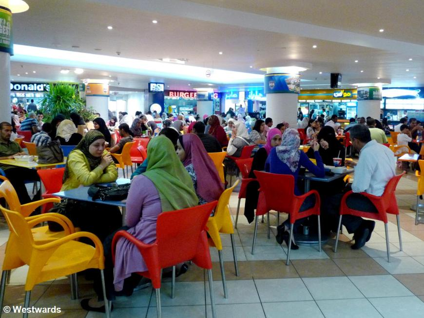 food court in Alexandria SanStefano mall