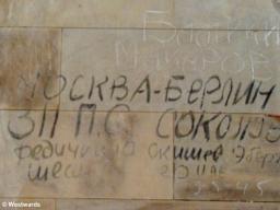 Graffiti in Berlin Reichstag