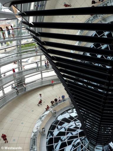 visitors in the Berlin Reichstag